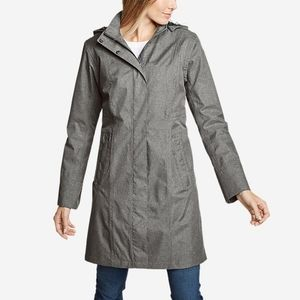 Eddie Bauer Girl On The Go Trenchcoat Rain Jacket